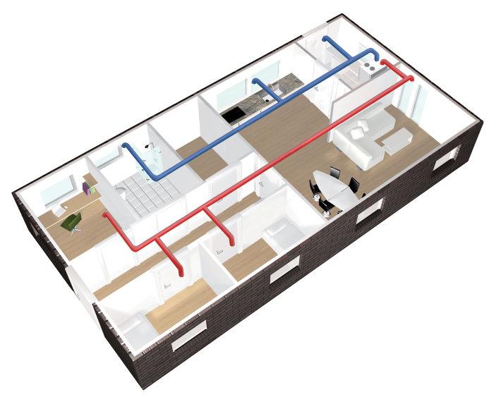 AIRVEKS rørpakke 110 m²