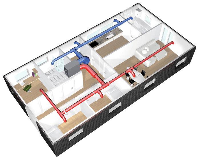 AIRVEKS rørpakke 150 m²