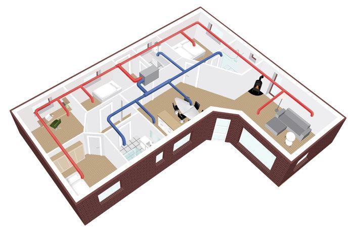 AIRVEKS rørpakke 180 m²
