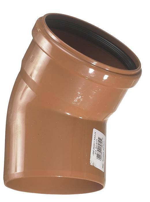 PVC kloakbøjning 110 mm x 45 gr. RØD