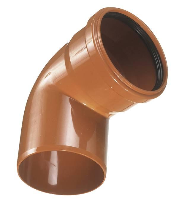 PVC kloakbøjning 110 mm x 87 gr. RØD