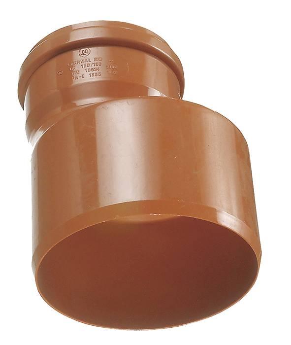 PVC kloakreduktion rød 160 mm x 110 mm