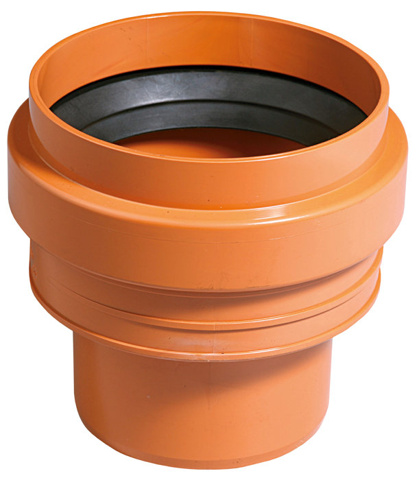 PVC kloakreduktion 110 mm x 138 mm. RØD