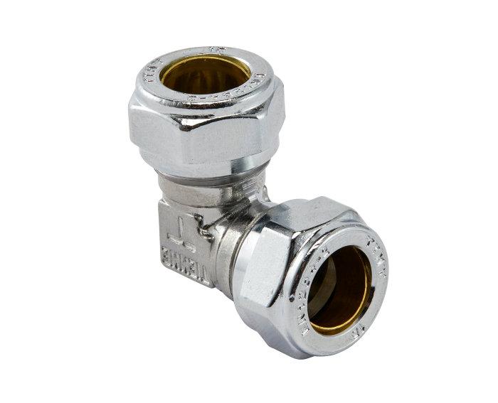 Klemringskobling albue 15 mm