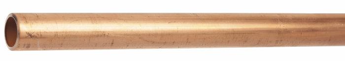 Kobberrør 10 mm x 500 mm hard