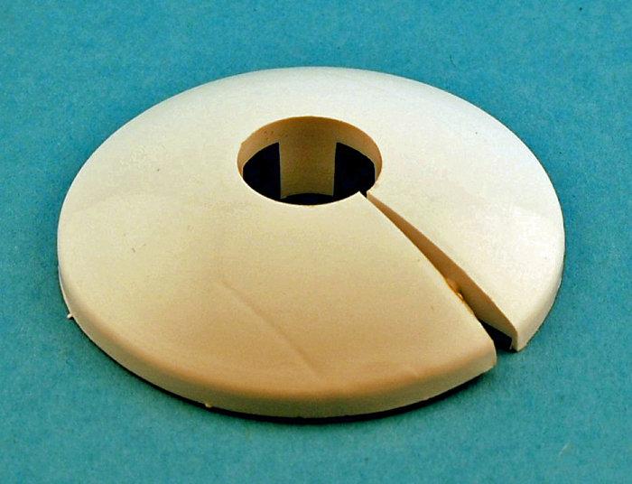 Rörtäckbricka 15 mm Vit