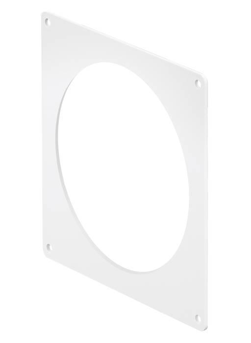 Dækplade Ø100 15x13.5 hvid