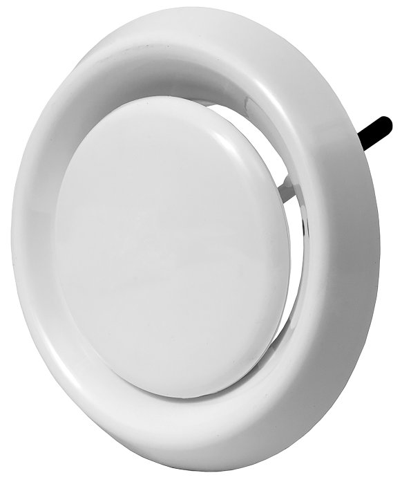 Kanalrist med lukke Ø175 mm - hvid