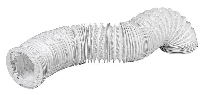 PVC flexslange Ø127 mm x 3 meter hvid