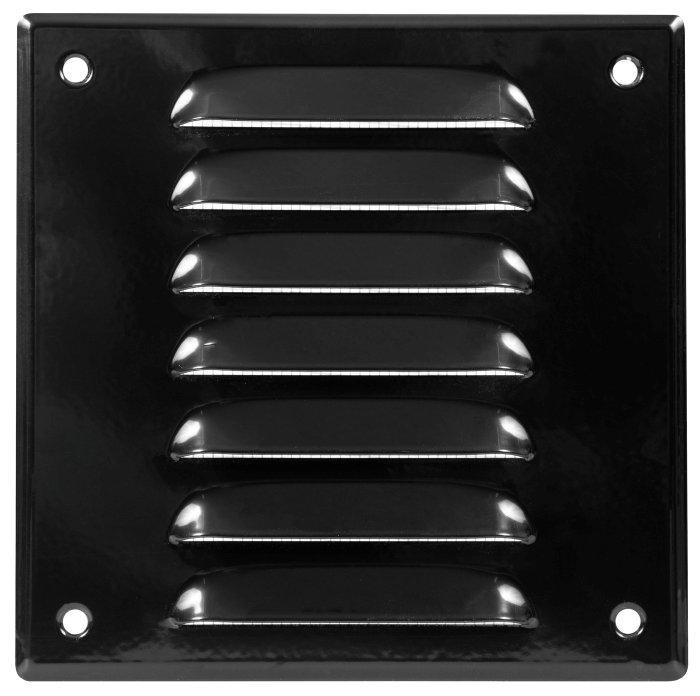 Vægrist med net 170 x 170 mm - sort metal