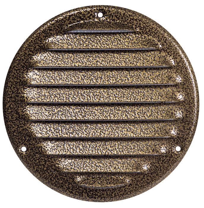 Vægrist med net Ø165 mm - metal antik
