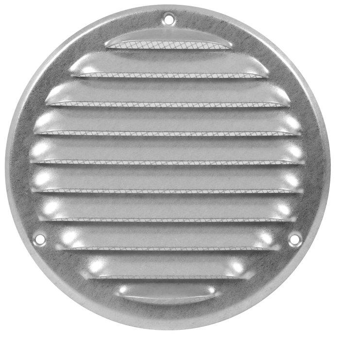 Vægrist med net Ø165 mm - galvaniseret