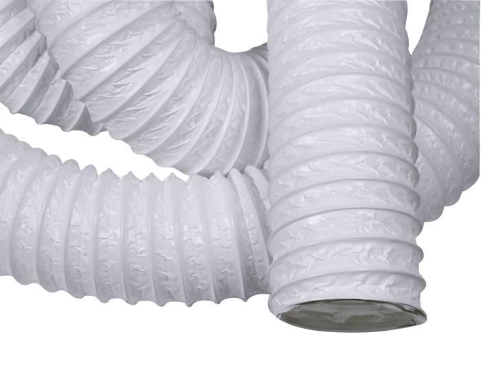Flexslange 127 mm hvid polyethylen