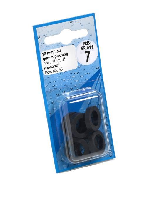 Gummipakning flad 12 mm.