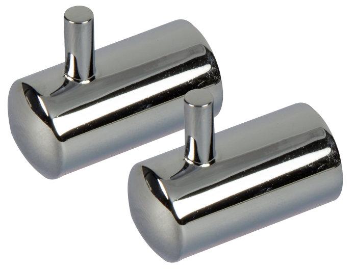 Håndklædekrog m/tap krom 2 stk. - Target