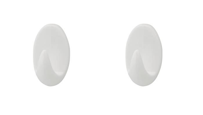 Håndklædekrog oval plast large 2 stk. - Target