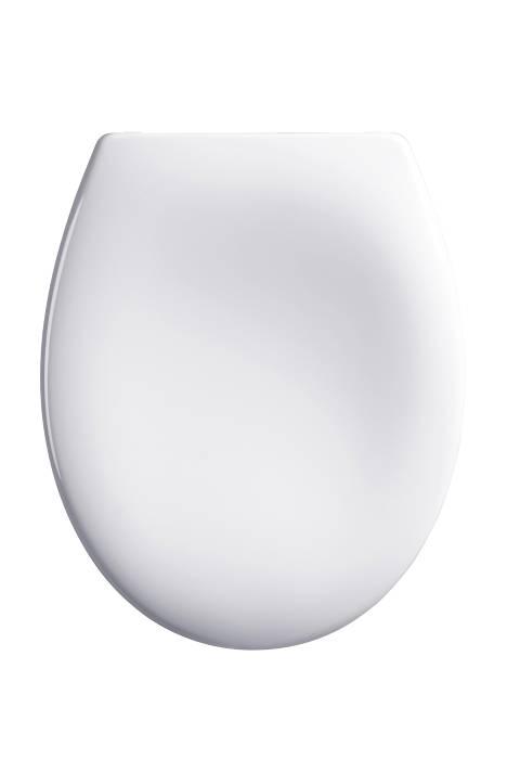 Universal toiletsæde med soft close - hvid