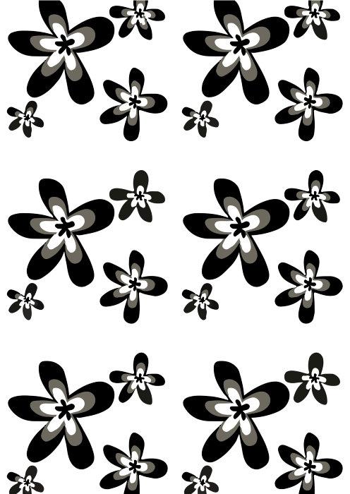 Badeforhæng Black Flower 180 x 200 cm - Geyser