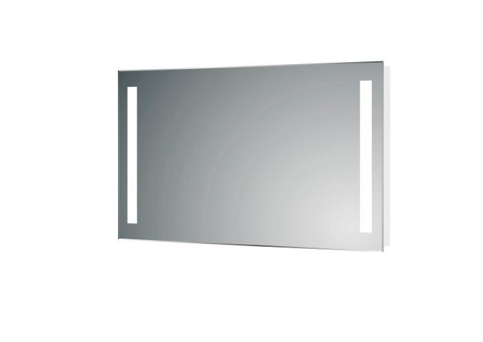 Spejl med LED-lys 70 x 100 cm