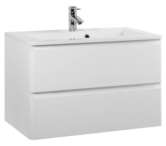 Madera badmøbel hvid højglans