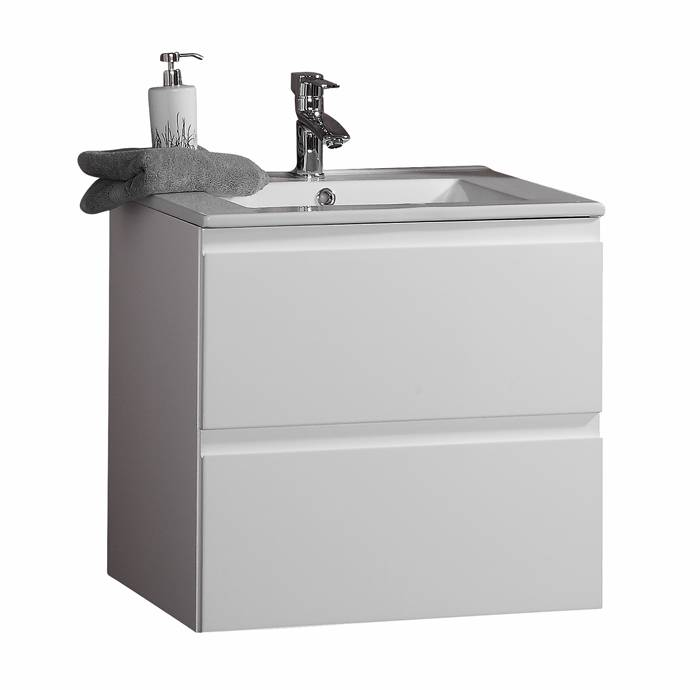 Reno underskab med vask 80 cm hvid