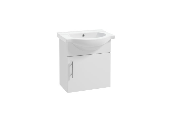 Badmøbel Basic hvid med 1 låge - BathZone