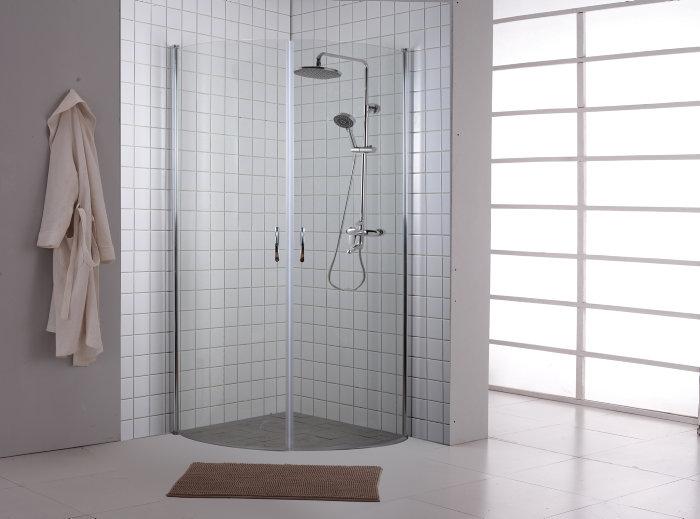 Brusehjørne 90 x 90 x 190 cm - BathZone