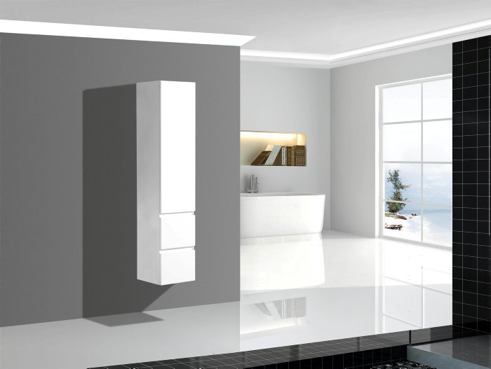 Högskåp 35x160cm vit