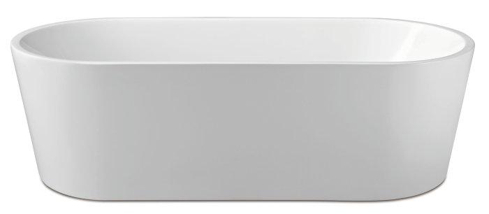Badekar ovalt fritstående L178 x B80 x H56 cm