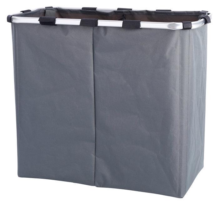 Vasketøjskurv med 2 rum - 100 liter