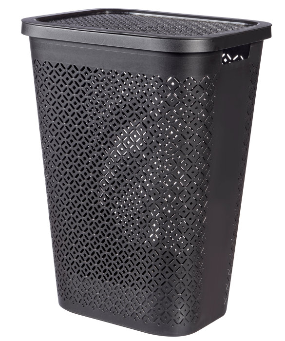 Vaskekurv svart 60 liter - Curver Terrazzo