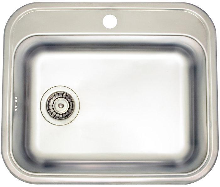 Stålvask m/strainer