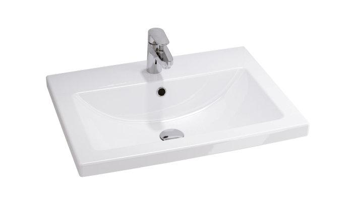 Håndvask i enkelt design. Hvid.