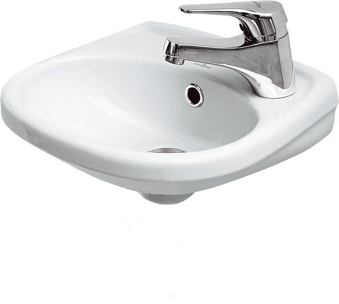 Håndvask med hanehul til højre