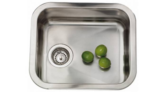 Køkkenvask med blank strainer