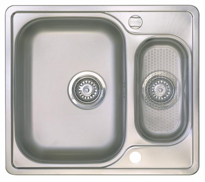 Stålvask vendbar 1 1/2 kum