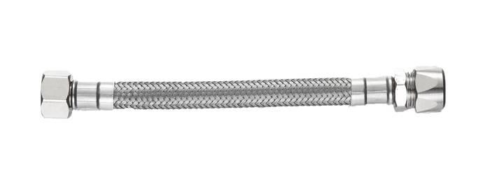 """Forlængerslange 50 cm 10 mm x 1/2"""" omløber – Kombi Flex"""