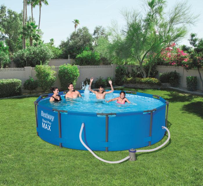pool 4678 liter inkl pumpe bestway jem fix. Black Bedroom Furniture Sets. Home Design Ideas