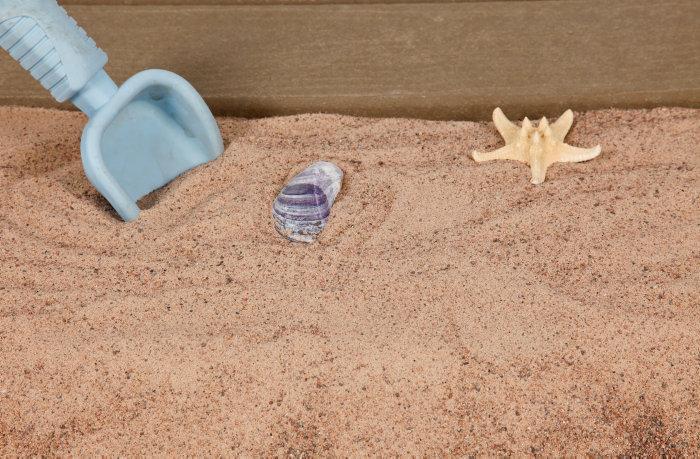 billig sand till sandlåda